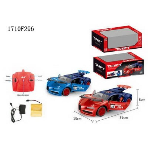 картинка Машина на радиоуправлении с аккумулятором, usb зарядное устройство, свет, двери и багажник открываются, несколько цветов от магазина Bebikam.ru
