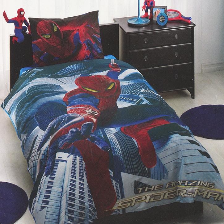Детское постельное белье Spider Man Movie, 3-12 летДетское постельное белье<br>Детское постельное белье Spider Man Movie, 3-12 лет<br>