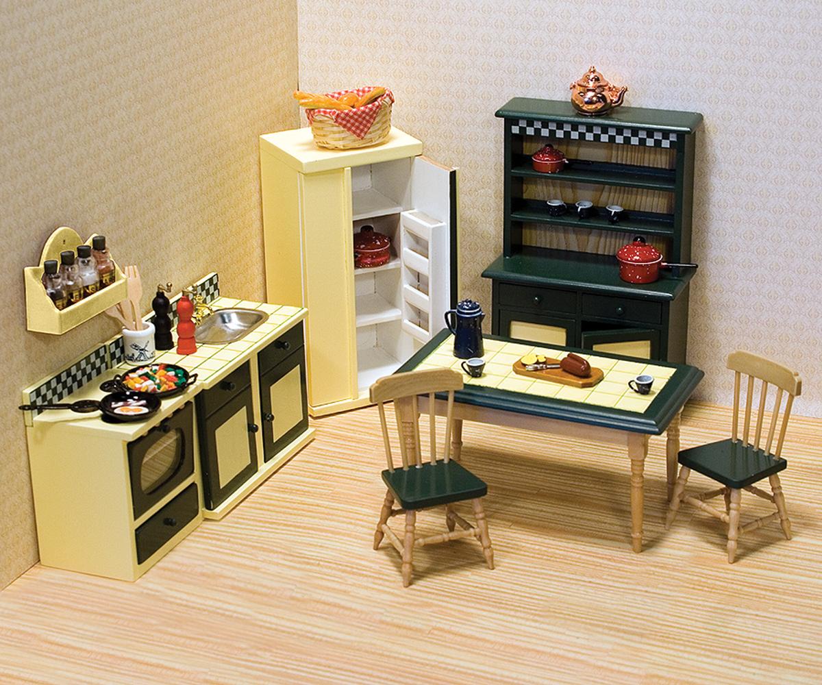Набор мебели Кухня для викторианского домаКукольные домики<br>Набор мебели Кухня для викторианского дома<br>