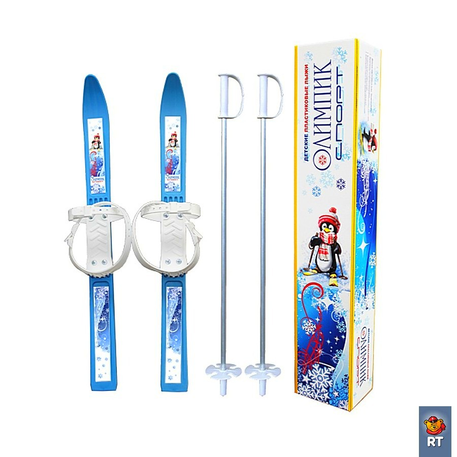 Купить Лыжи детские «Пингвин» с палками, синие. Олимпик Спорт, RT