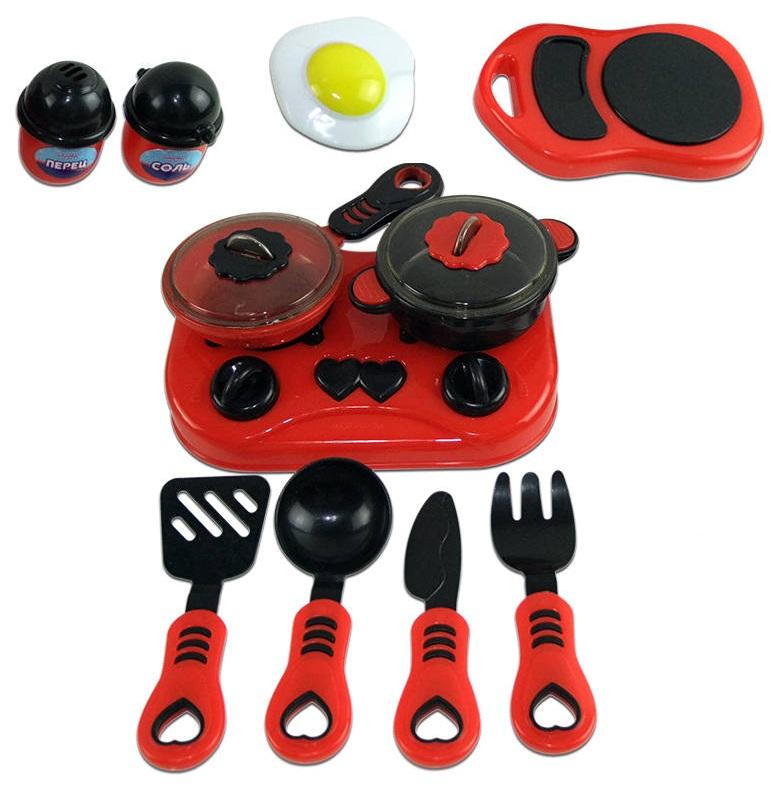 Набор посуды для кухни с продуктами, в наборе 13 предметов, серия «Помогаю Маме»Аксессуары и техника для детской кухни<br>Набор посуды для кухни с продуктами, в наборе 13 предметов, серия «Помогаю Маме»<br>