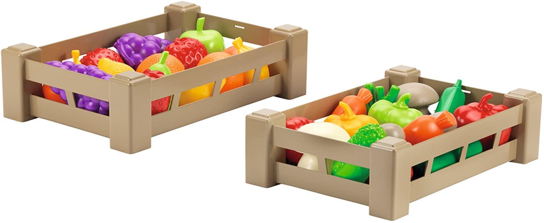 Детские ящики с фруктами и овощами