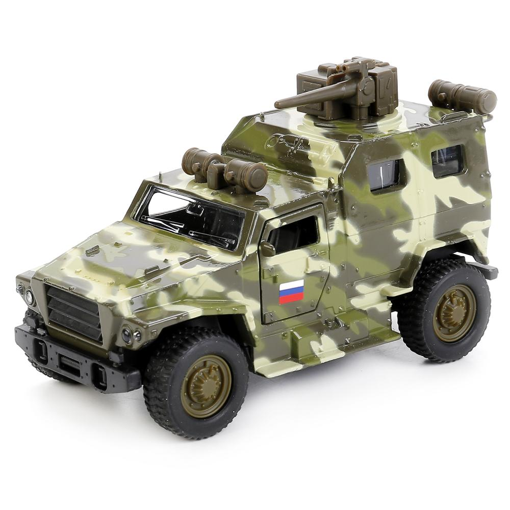Купить Модель ВПК 3927 Волк, 12 см, открываются двери и багажник, инерционная -WB), Технопарк