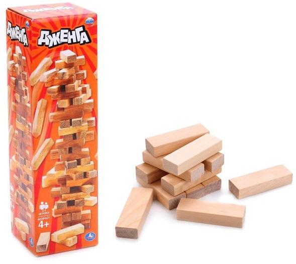 Настольная игра - Дженга с деревянными брускамиДженга<br>Настольная игра - Дженга с деревянными брусками<br>