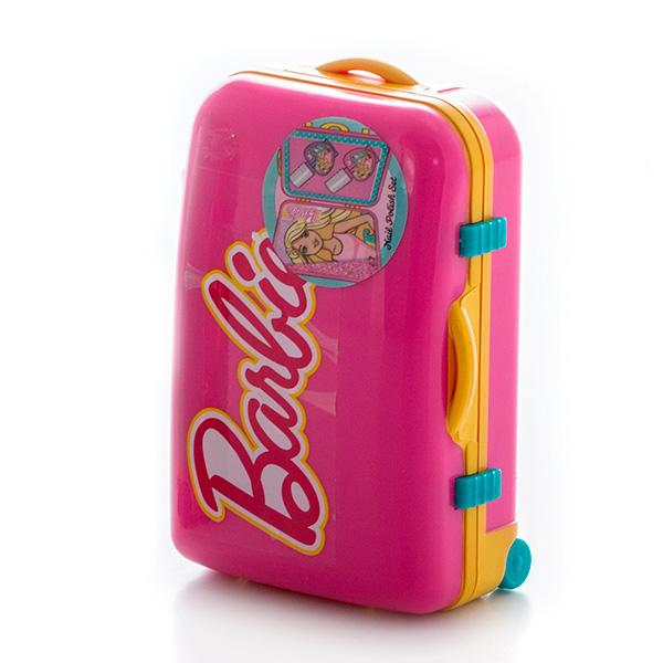 Набор детской декоративной косметики из серии Barbie, в розовом чемоданчикеЮная модница, салон красоты<br>Набор детской декоративной косметики из серии Barbie, в розовом чемоданчике<br>