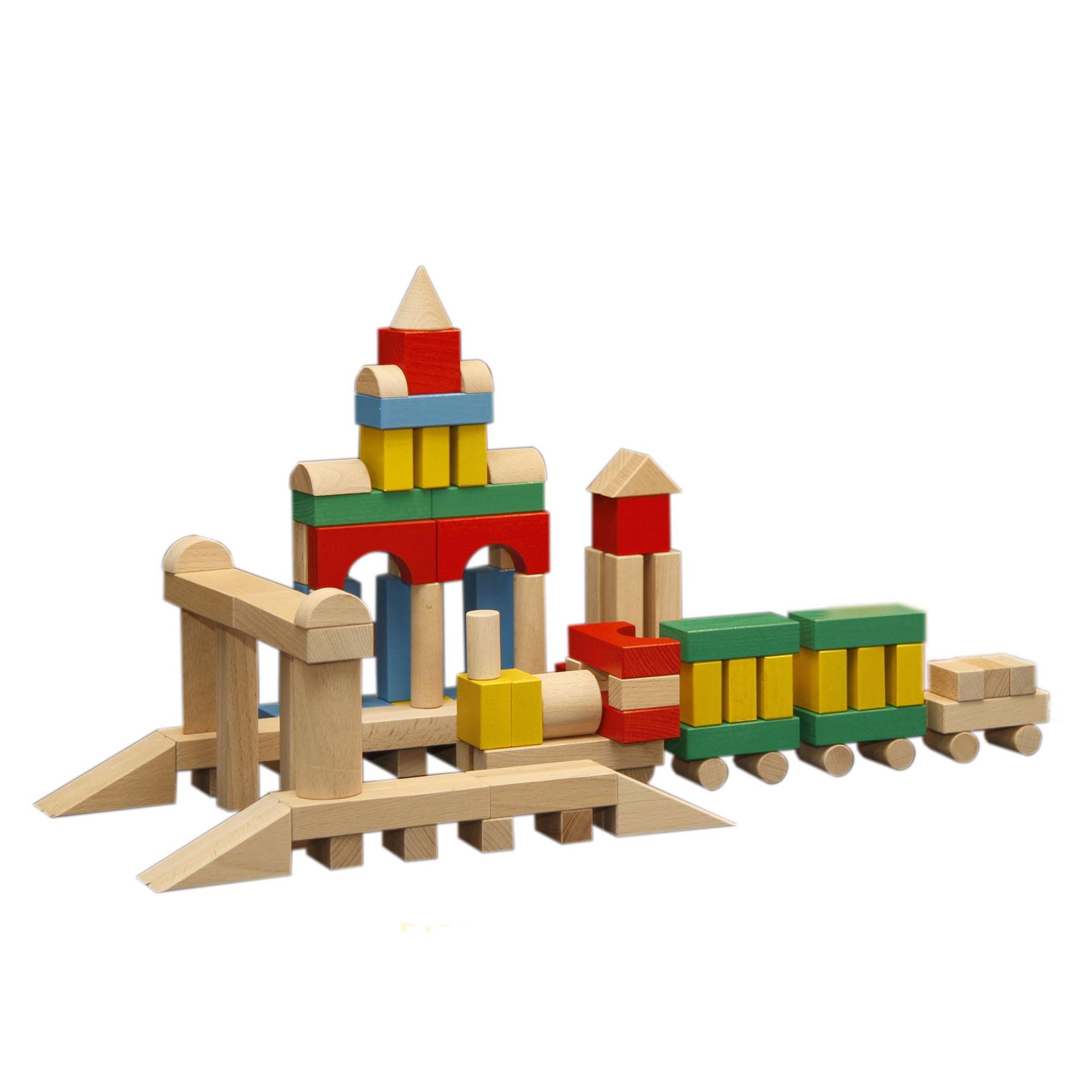 Конструктор деревянный цветной, 150 деталейДеревянный конструктор<br>Конструктор деревянный цветной, 150 деталей<br>