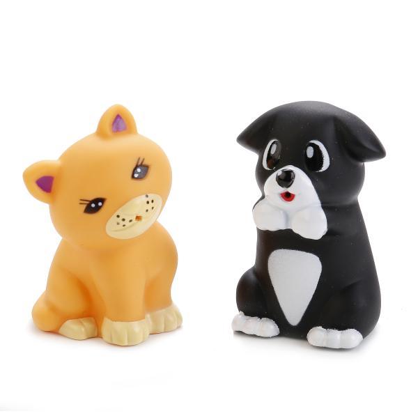 Игрушки для ванной – Щенок и кот, в сеткеРезиновые игрушки<br>Игрушки для ванной – Щенок и кот, в сетке<br>
