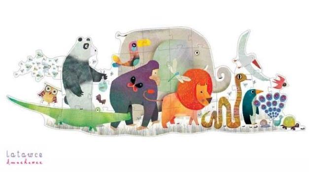 Купить Пазл-гигант – Животные, 36 деталей, Djeco