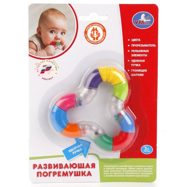 Погремушка - Я познаю мир с гремящими шариками и прорезывателемДетские погремушки и подвесные игрушки на кроватку<br>Погремушка - Я познаю мир с гремящими шариками и прорезывателем<br>