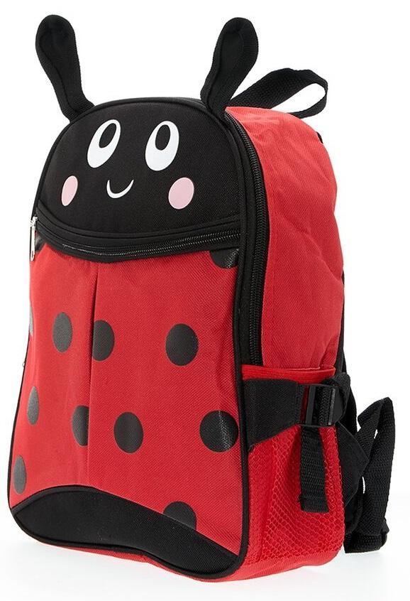 Рюкзак Божья коровка, цвет черный с краснымДетские рюкзаки<br>Рюкзак Божья коровка, цвет черный с красным<br>