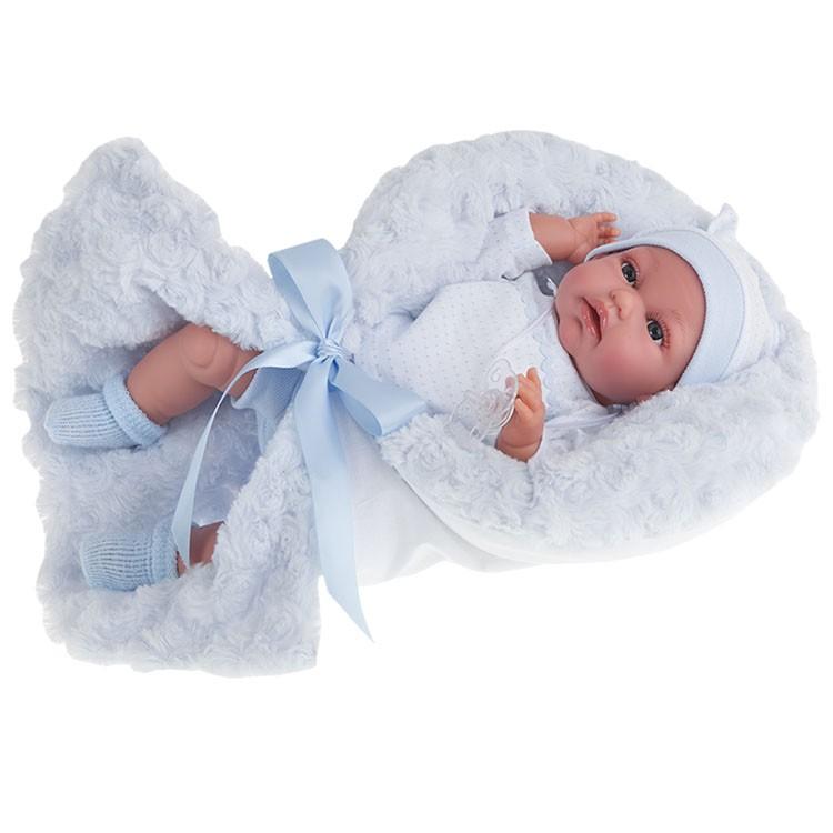 Озвученная кукла Вито в голубом, 34 смКуклы Антонио Хуан (Antonio Juan Munecas)<br>Озвученная кукла Вито в голубом, 34 см<br>
