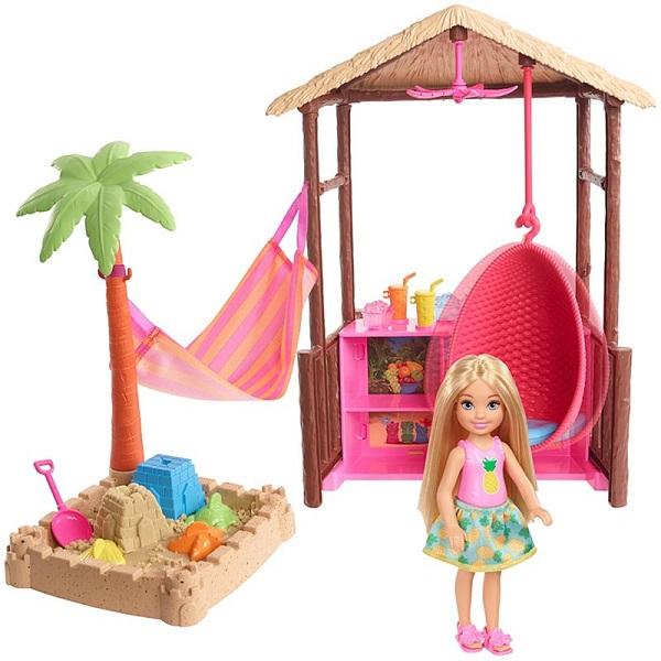 Купить Челси и хижина из серии Путешествия Barbie®, Mattel