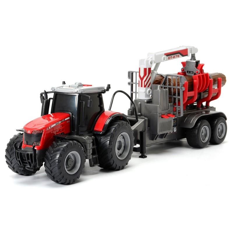 Трактор Massey с прицепом, световыми и звуковыми эффектамиИгрушечные тракторы<br>Трактор Massey с прицепом, световыми и звуковыми эффектами<br>