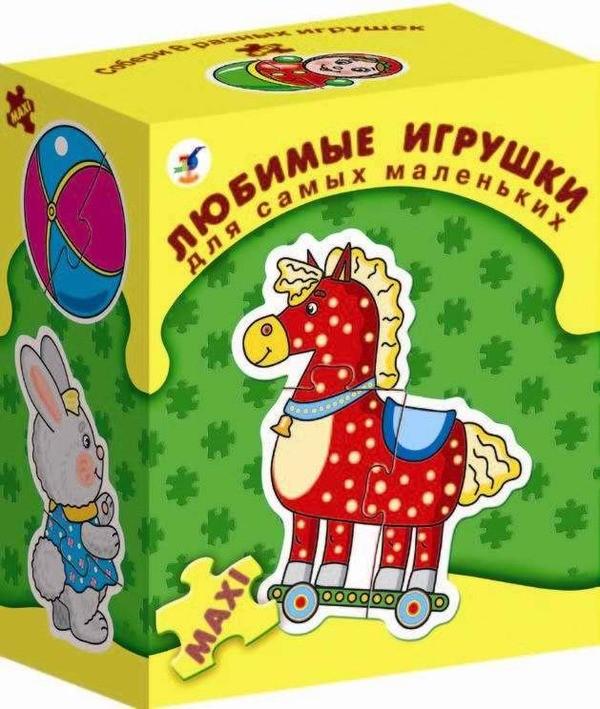 Игра настольная из серии «Для самых маленьких» - Любимые игрушкиПазлы для малышей<br>Игра настольная из серии «Для самых маленьких» - Любимые игрушки<br>