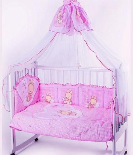Комплект – Степашка, розовыйДетское постельное белье<br>Комплект – Степашка, розовый<br>