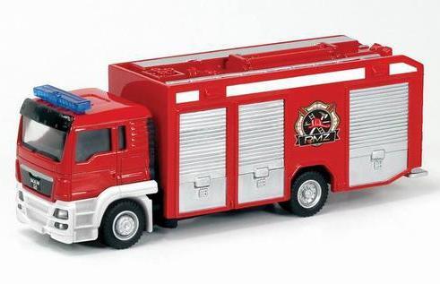 Машина металлическая – Пожарная MAN, Rmz City, 1:64Городская техника<br>Машина металлическая – Пожарная MAN, Rmz City, 1:64<br>