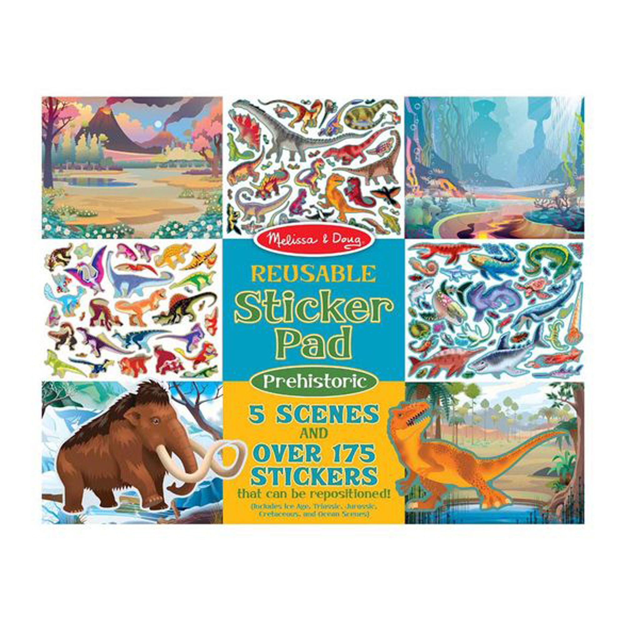 Купить Набор стикеров из серии Творчество – Доисторические животные, Melissa&Doug