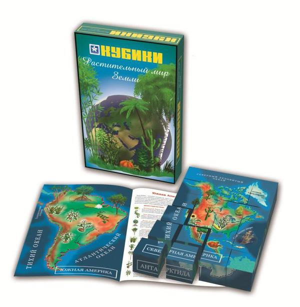Кубики деревянные «Растительный мир Земли», 24 штукиКубики<br>Кубики деревянные «Растительный мир Земли», 24 штуки<br>