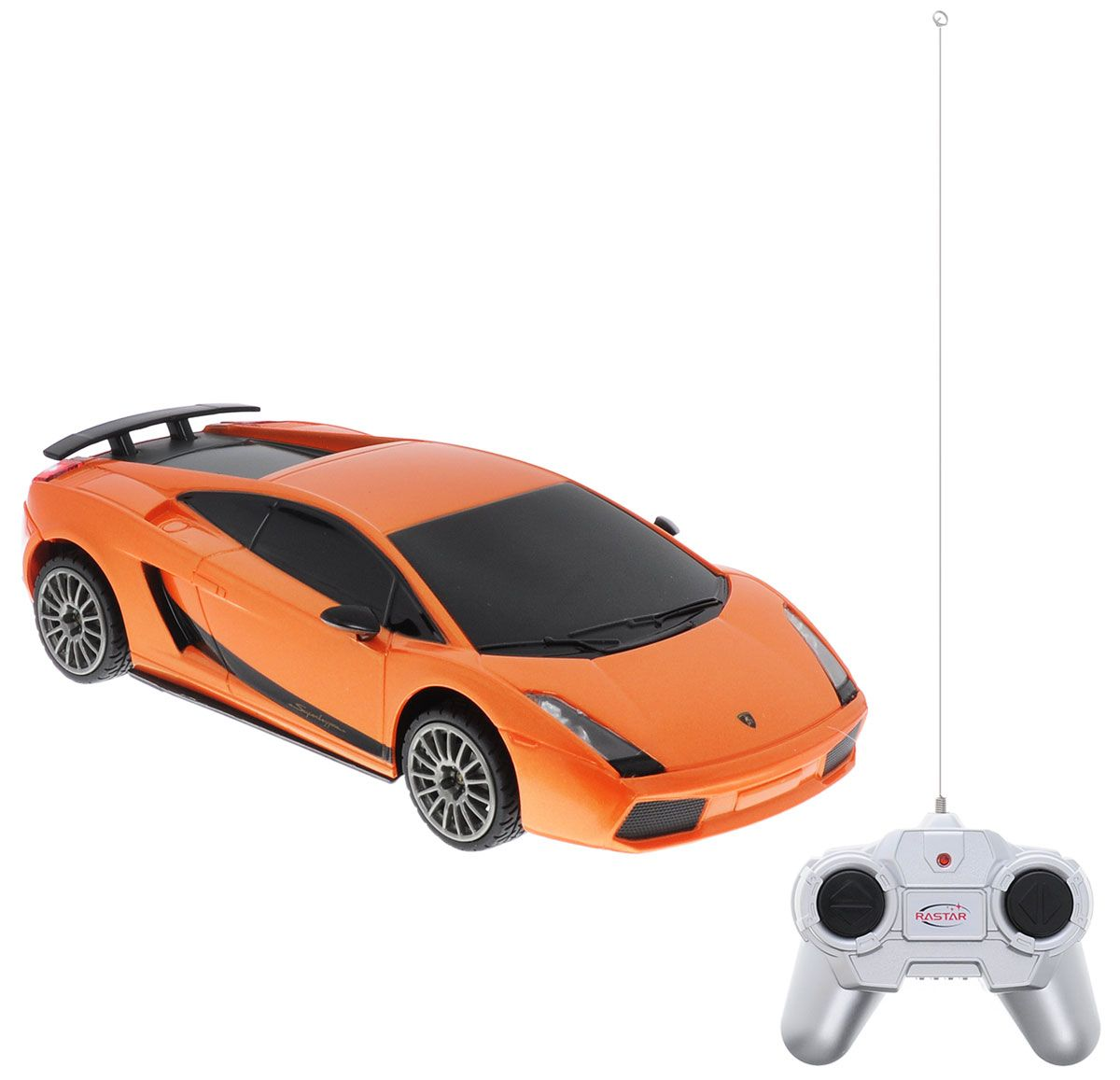 картинка Машина на р/у - Lamboighini, 1:24, оранжевый, свет от магазина Bebikam.ru