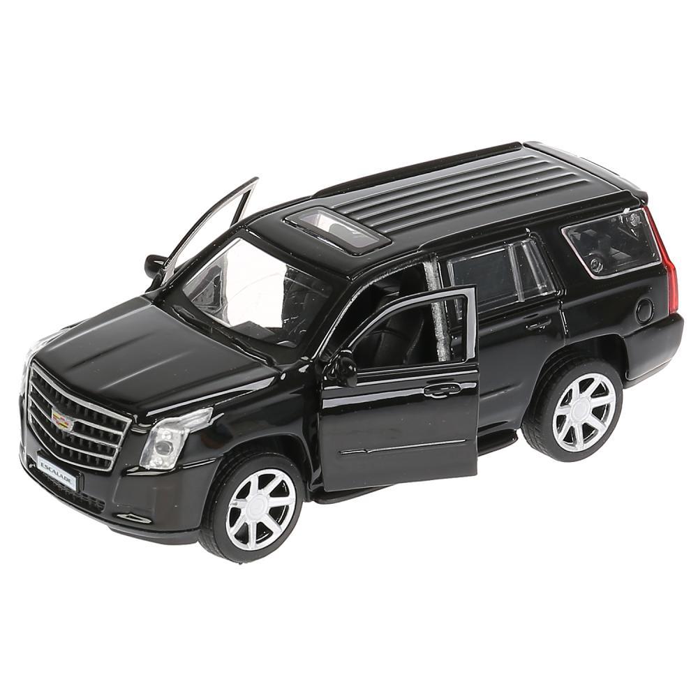 Купить со скидкой Машина инерционная металлическая - Cadillac Escalade, 12 см, черный, открываются двери