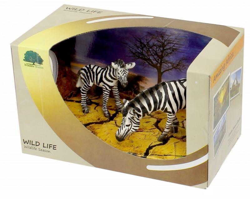 Набор фигурок «Семейство зебр»Дикая природа (Wildlife)<br>Набор фигурок «Семейство зебр»<br>