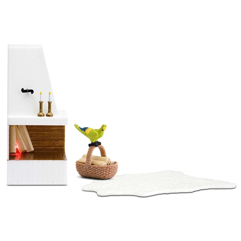 Кукольная мебель из серии Смоланд - Камин с декоромКукольные домики<br>Кукольная мебель из серии Смоланд - Камин с декором<br>