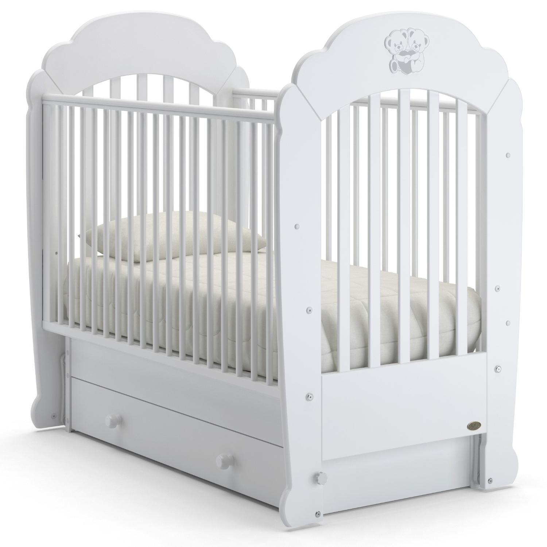 Купить Детская кровать Nuovita Parte swing, поперечный. Bianco/Белый