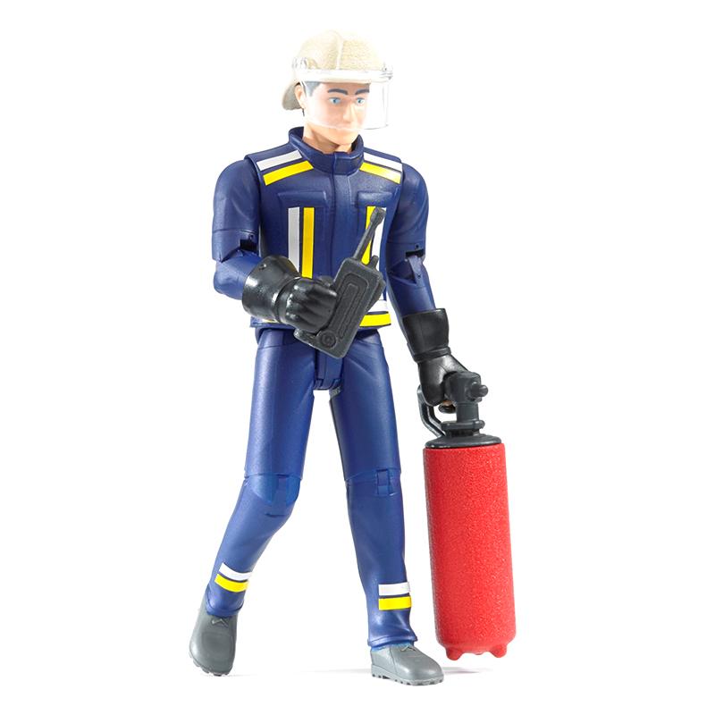Фигурка пожарного с рацией и огнетушителем - Игрушки Bruder, артикул: 83300