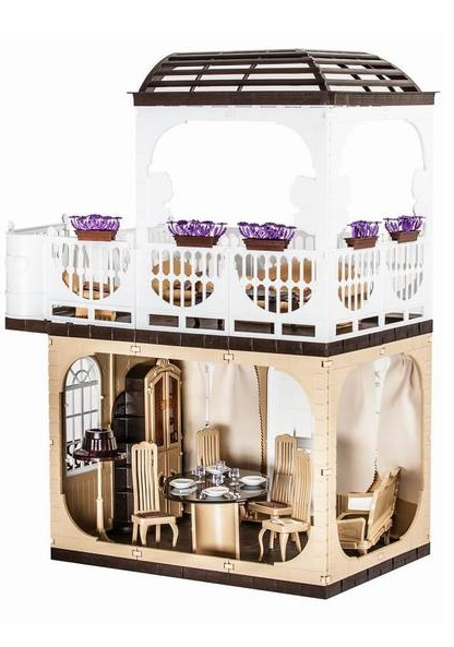 Купить Бежевый кукольный домик Коллекция, Огонек