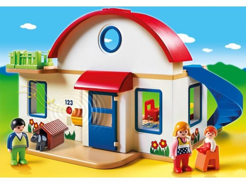 Игровой набор  1.2.3  Пригородный дом - Конструкторы Playmobil, артикул: 159958