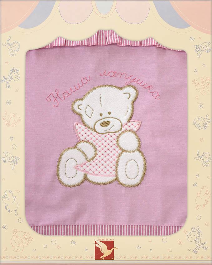 Постельное белье Лапушки, 3 предмета, цвет – розовыйДетское постельное белье<br>Постельное белье Лапушки, 3 предмета, цвет – розовый<br>