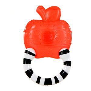 Мягкий прорезыватель для зубок «Полосатое колечко», ЯблокоДетские погремушки и подвесные игрушки на кроватку<br>Яркий прорезыватель наполнен водой, покусывая его, кроха успокоит воспаленные десна.<br>