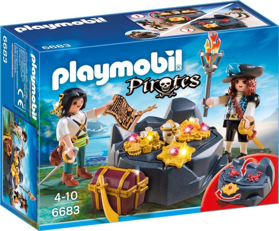 Купить Игровой набор из серии Пираты: Пиратский тайник с сокровищами, Playmobil
