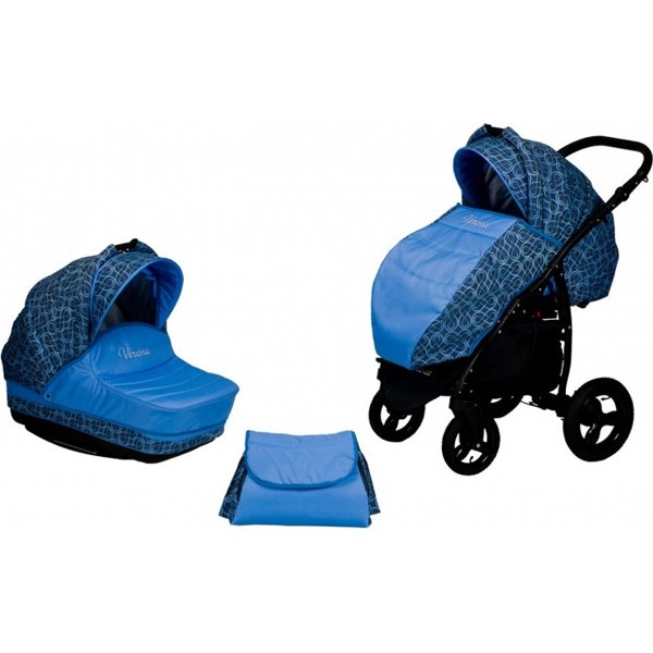 Коляска Verona 2 в 1, цвет - 1 BДетские коляски 2 в 1<br>Коляска Verona 2 в 1, цвет - 1 B<br>