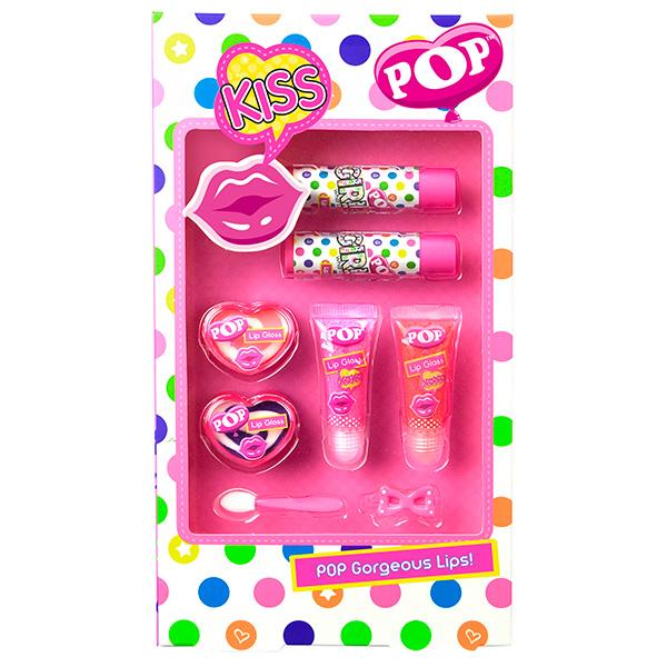 Набор детской декоративной косметики для губ из серии PopЮная модница, салон красоты<br>Набор детской декоративной косметики для губ из серии Pop<br>
