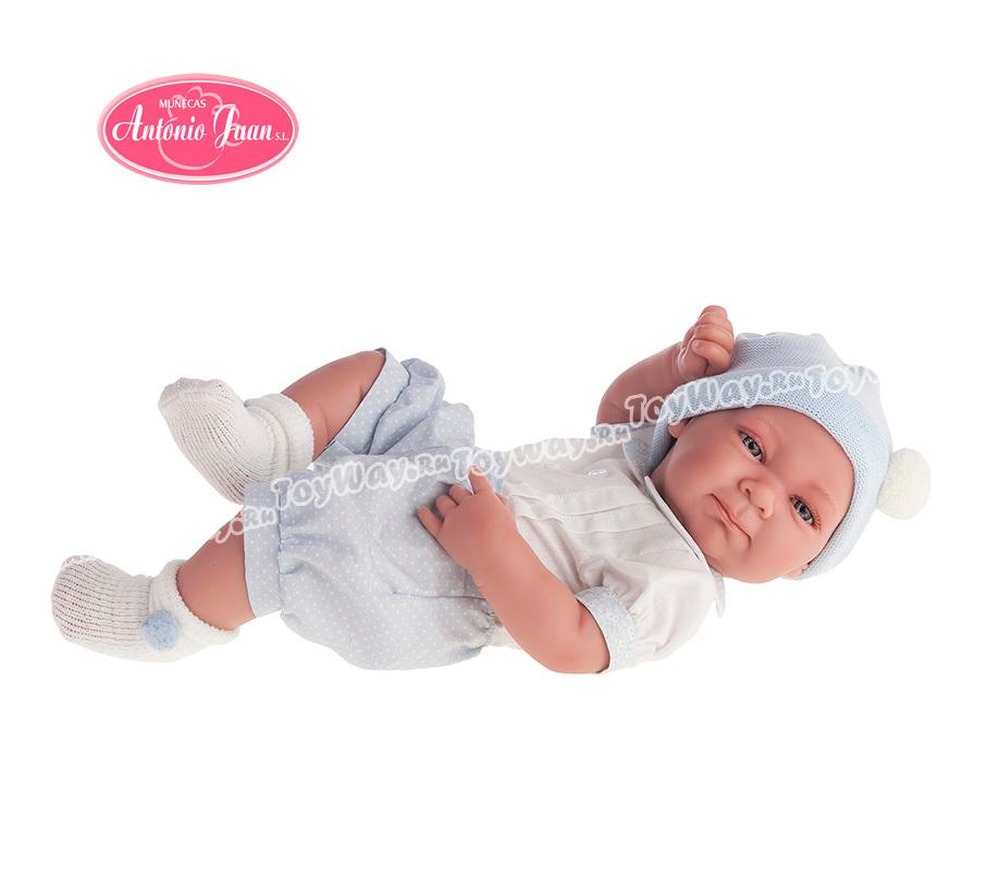 Кукла-младенец Оли, мальчик, в голубом, 42 см.Куклы Антонио Хуан (Antonio Juan Munecas)<br>Кукла-младенец Оли, мальчик, в голубом, 42 см.<br>
