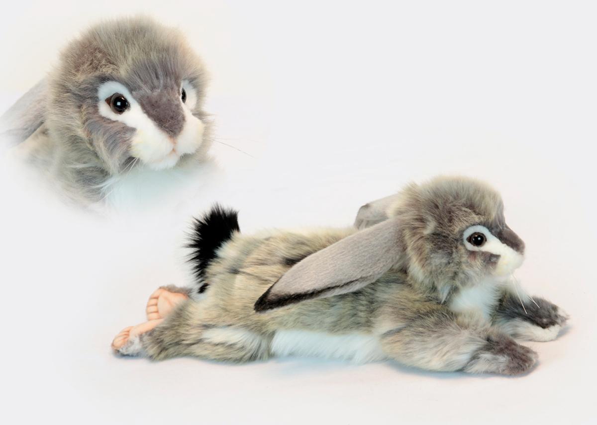 Мягкая игрушка - Заяц вислоухий серый, 40 смЗайцы и кролики<br>Мягкая игрушка - Заяц вислоухий серый, 40 см<br>