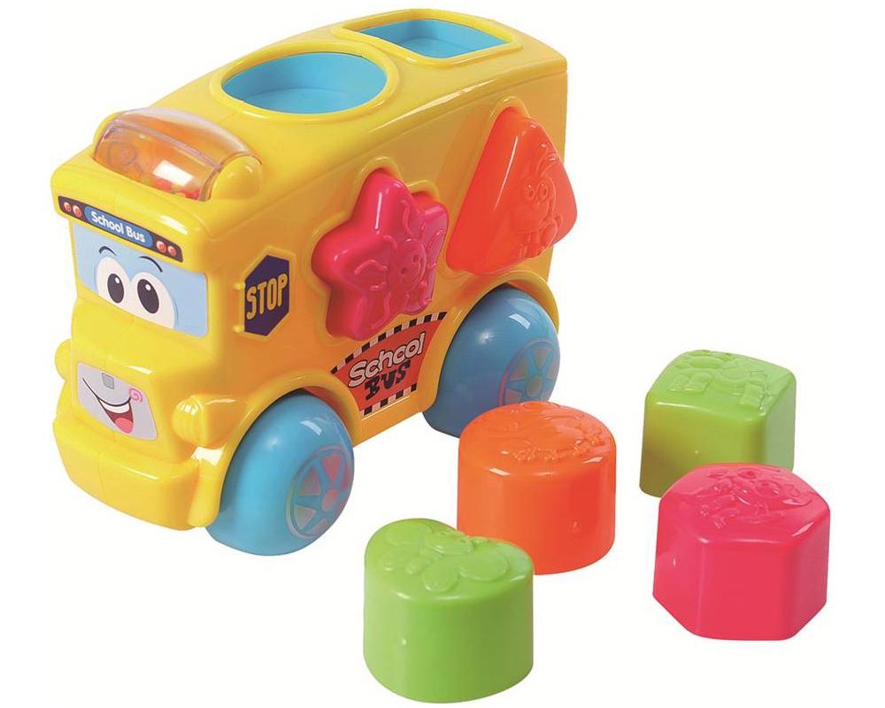 Развивающая игрушка - Автобус-сортерСортеры, пирамидки<br>Развивающая игрушка - Автобус-сортер<br>
