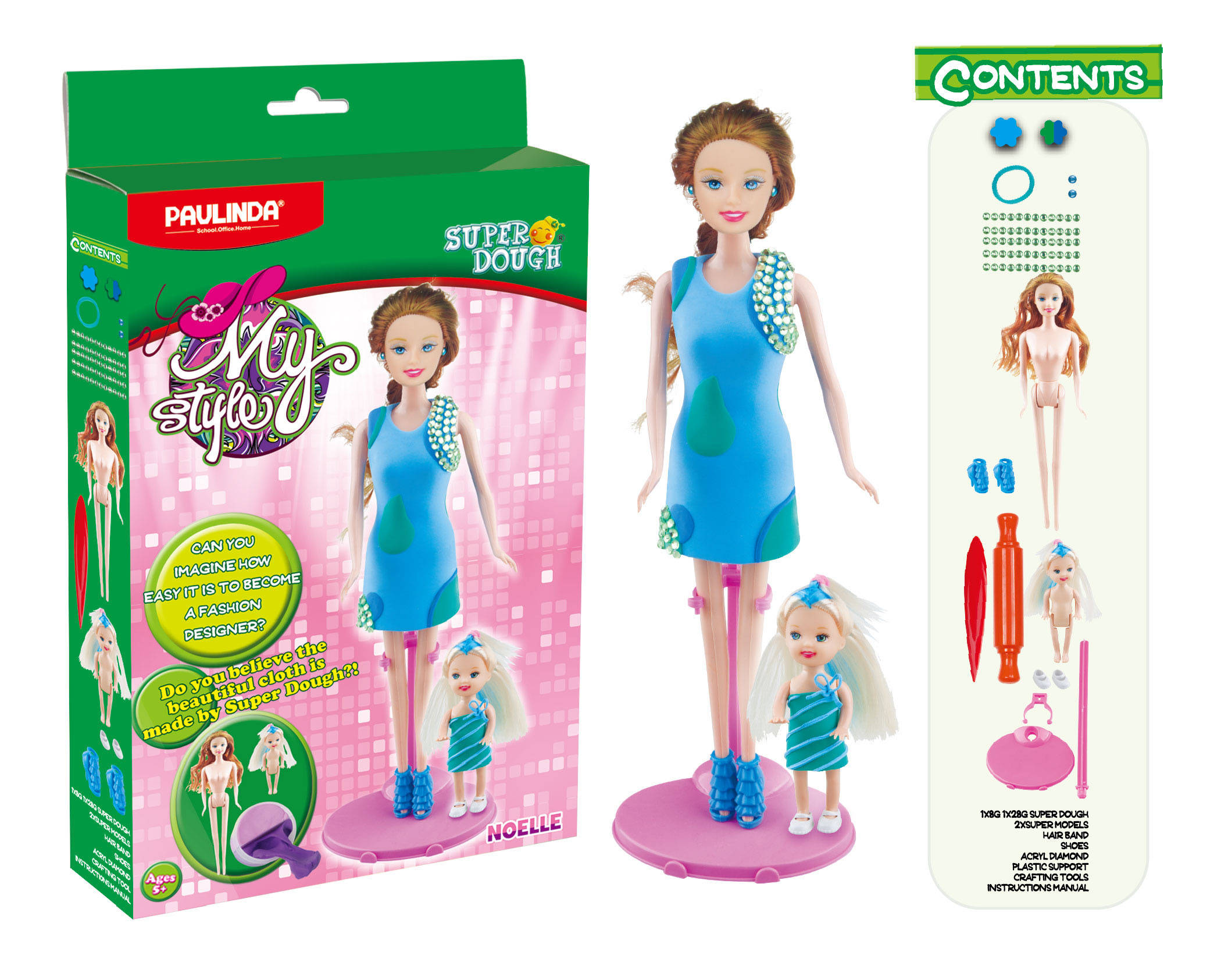 Масса для лепки  Мой стиль: Ноэлль, набор для создания наряда для куклы - Наборы для лепки, артикул: 165845