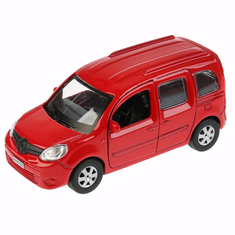 Купить Машина инерционная металлическая - Renault Kangoo, 12 см, открываются двери, цвет красный, Технопарк