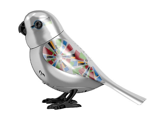 Интерактивная серебряная птичка с кольцомСкидки до 70%<br>Интерактивная серебряная птичка с кольцом<br>