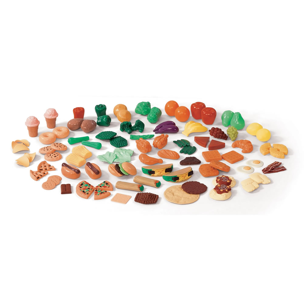 Игрушечные продукты питания, 101 предмет - Детская игрушка Касса. Магазин. Супермаркет, артикул: 160853