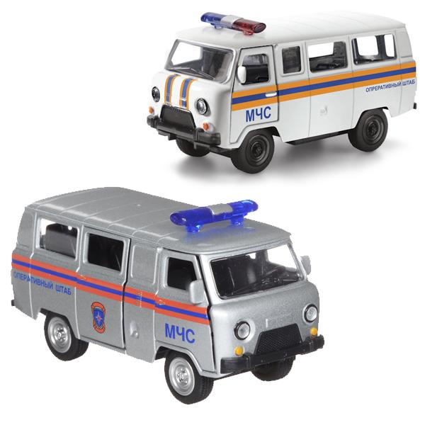 Машина металлическая инерционная - Уаз 39625 - МЧСУАЗ<br>Машина металлическая инерционная - Уаз 39625 - МЧС<br>