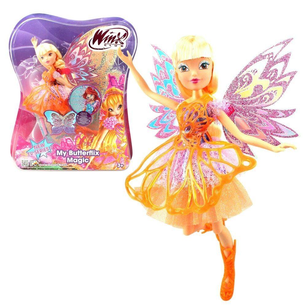 Кукла из серии Winx Club - Баттерфликс-2. Двойные крылья StellaКуклы Винкс (Winx)<br>Кукла из серии Winx Club - Баттерфликс-2. Двойные крылья Stella<br>