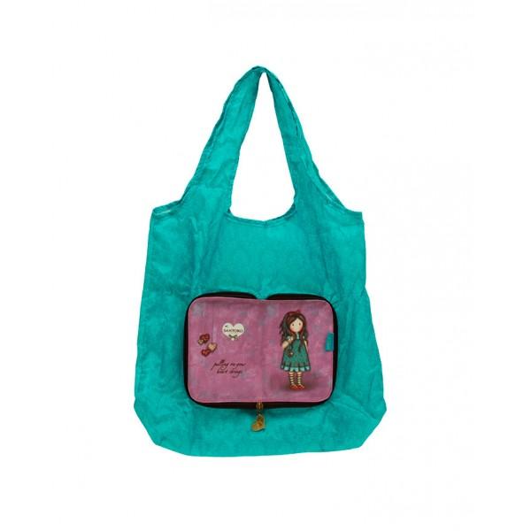 Складывающаяся сумка для покупок - Heart StringsGorjuss Santoro London<br>Складывающаяся сумка для покупок - Heart Strings<br>
