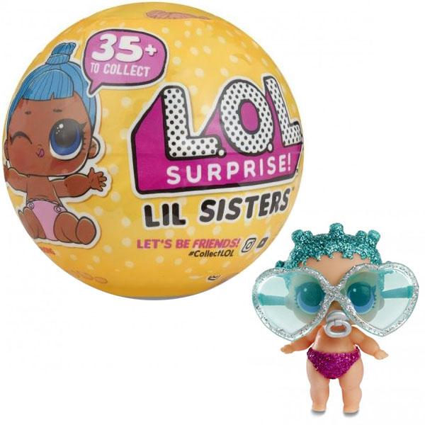 Кукла-сюрприз LOL - Конфетти Сестренка Lil Sisters в шарике, MGA Entertainment  - купить со скидкой
