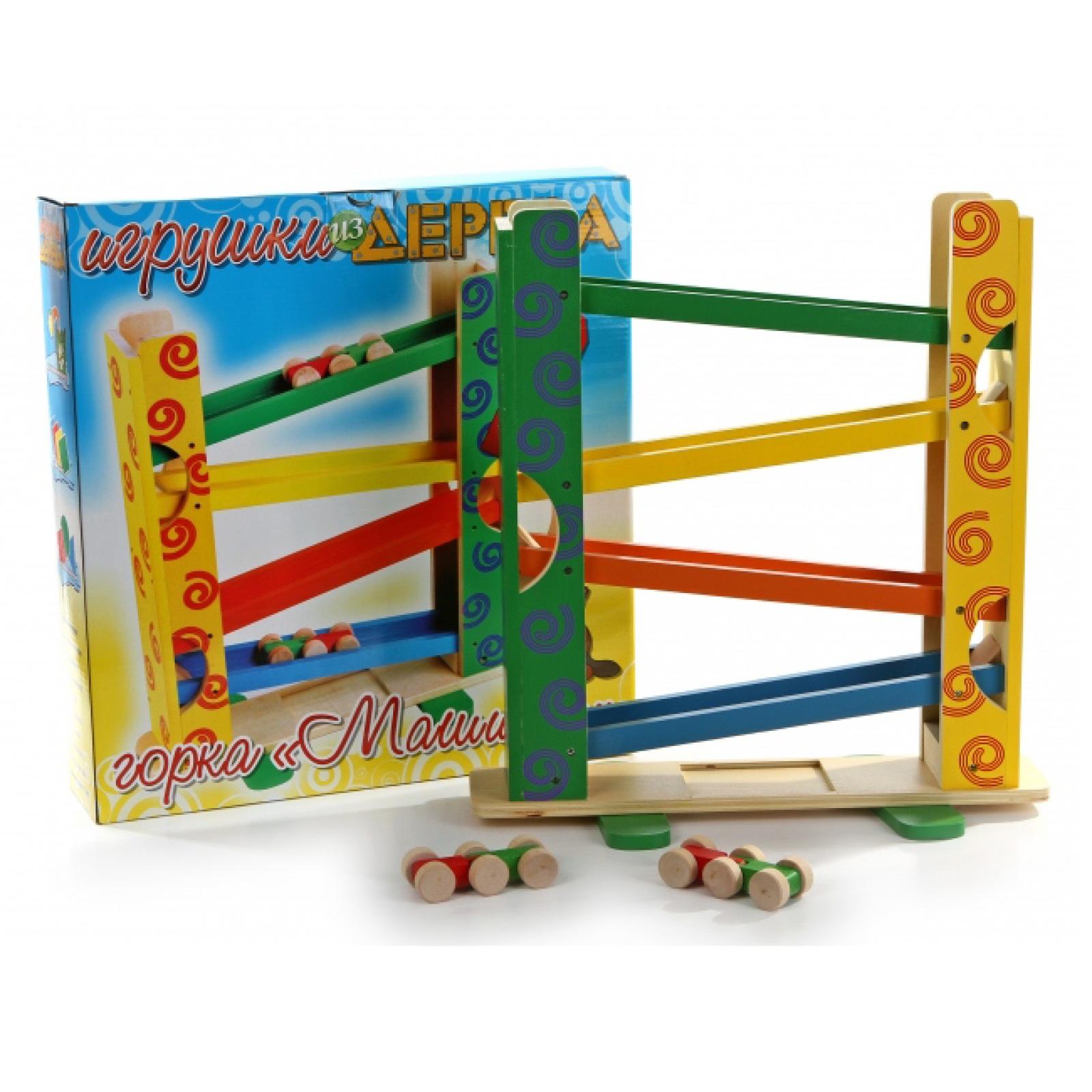 Деревянная игрушка – Горка - Машинки