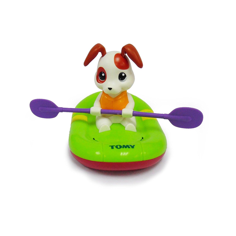 Купить Заводная игрушка для ванны - Щенок на лодке, Tomy