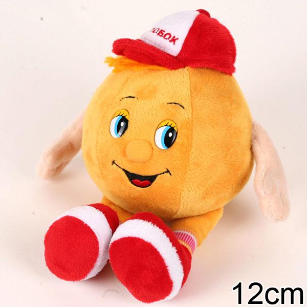 Мягкая игрушка – Колобок, озвученный, 12 см.Говорящие игрушки<br>Мягкая игрушка – Колобок, озвученный, 12 см.<br>