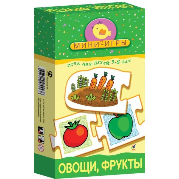 Игра настольная-мини Овощи.ФруктыОбучающие игры<br>Игра настольная-мини Овощи.Фрукты<br>